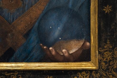 Detail from Da Vinci's Salvator Mundi